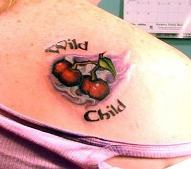 Wild Child Cherries Tattoo