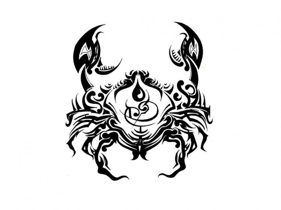 Zodiac Cancer Symbol Tattoo Design