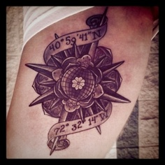 Amazing Compass Tattoo Picture