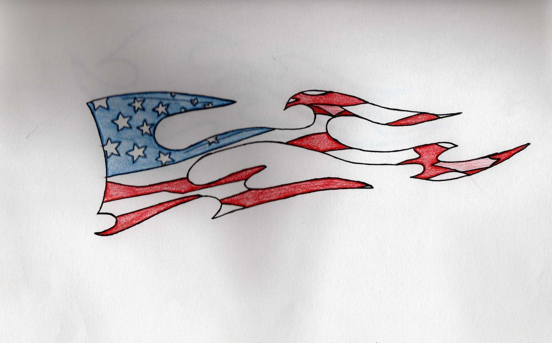Pics Photos American Flag Scratch Tattoo Design