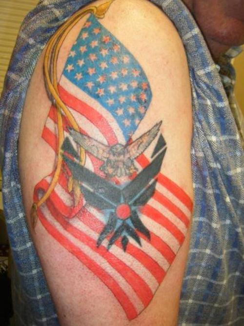 American Flag Tattoo Design For Men