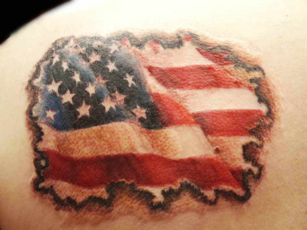 American Flag Tattoo Design