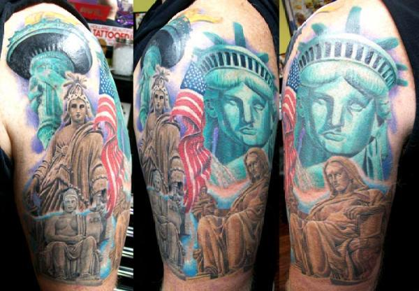 American Liberty Statue Tattoo Design