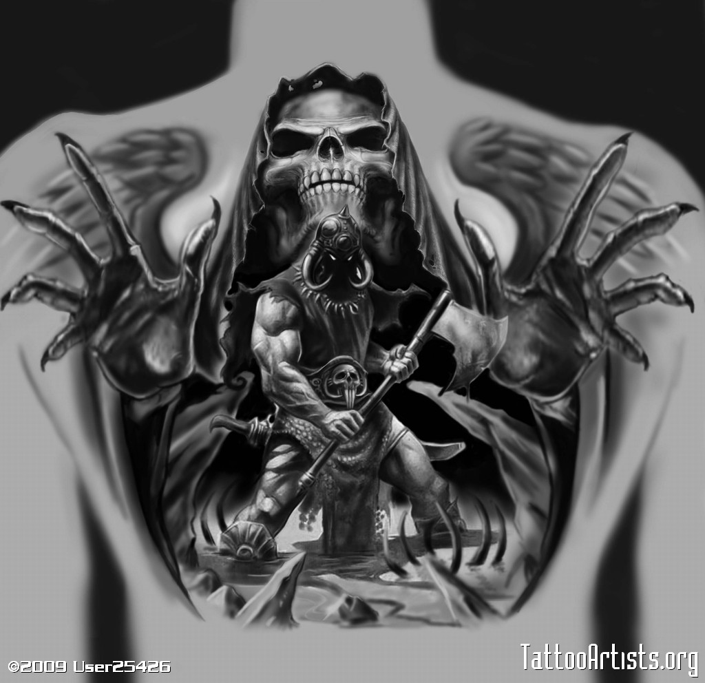 Gallery For gt Death Tattoo Designs