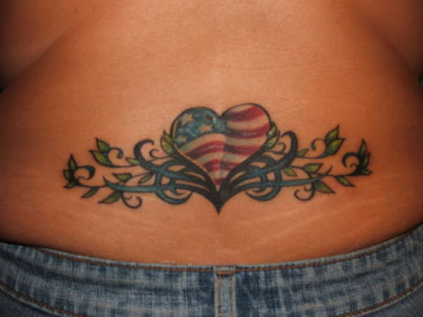 Awesome Country Tattoo On Lowerback