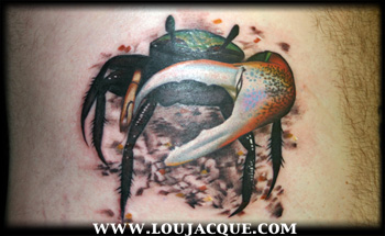 Awesome Crab Tattoo Picture