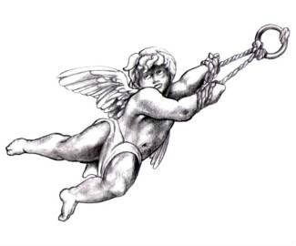Awesome Cupid Cherub Tattoo Design