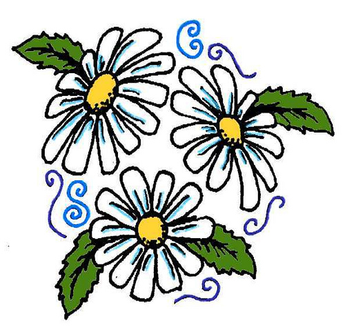Beautiful Daisy Flower Tattoo Designs