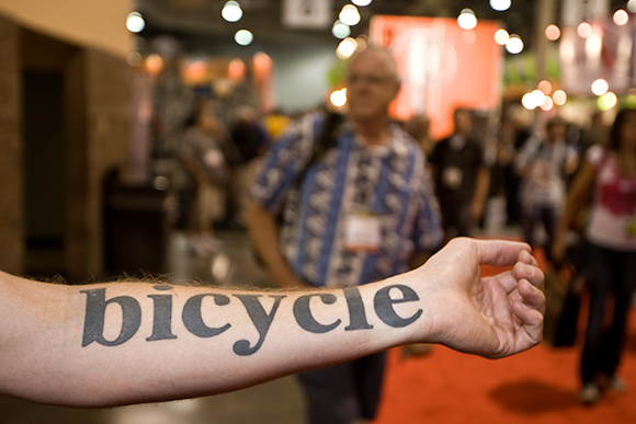 Bicycle Tattoo On Arm
