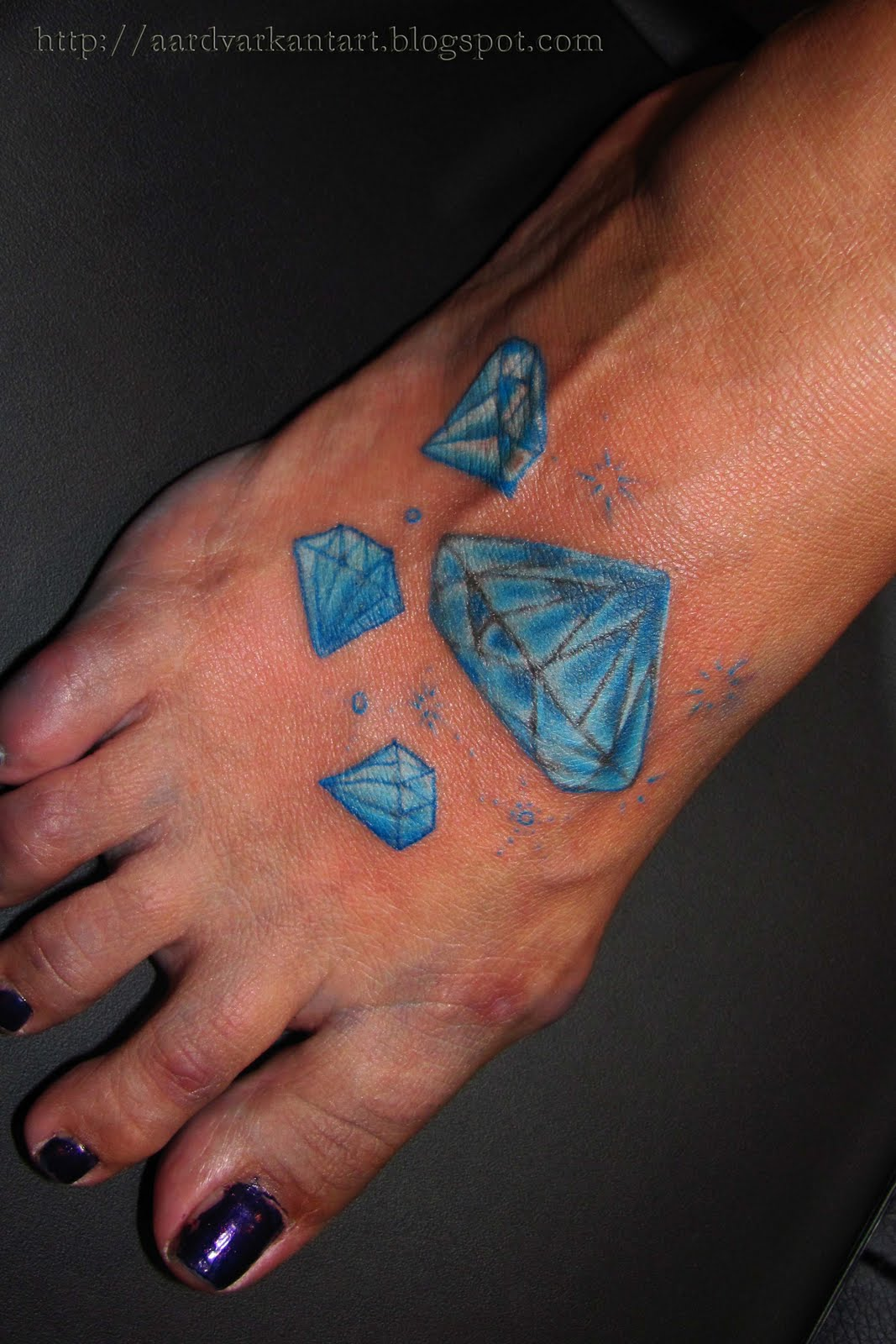 Blue Diamond Tattoo Meaning Chest tattoos diamond on for