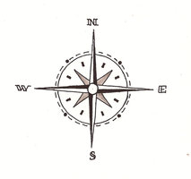 Brilliant Compass Tattoo Design
