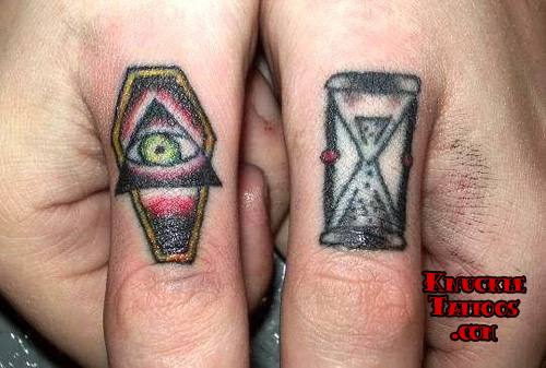 Coffin & Hourglass Tattoo Designs