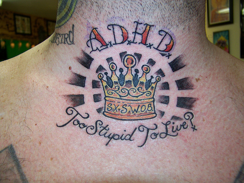 Color Crown Tattoo On Neck Back