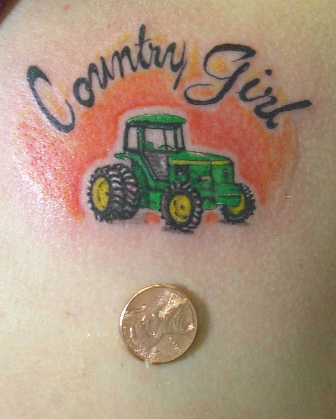Country Girl Color Tattoo