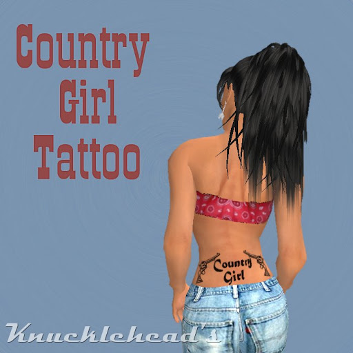 Country Girl Tattoo Design
