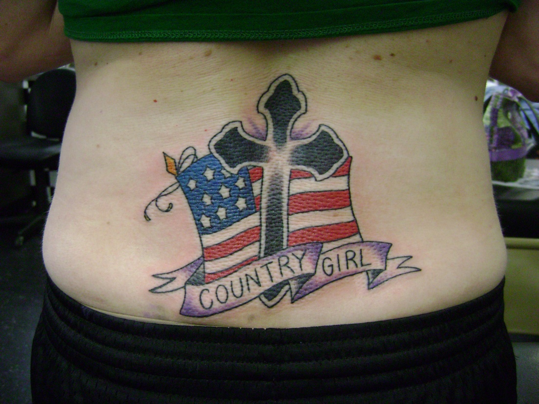 Country Girl Tattoo On Lowerback