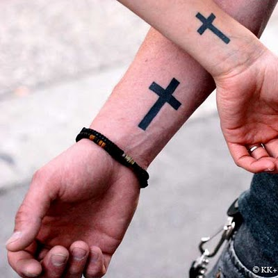 Couple Cross Tattoo Designs