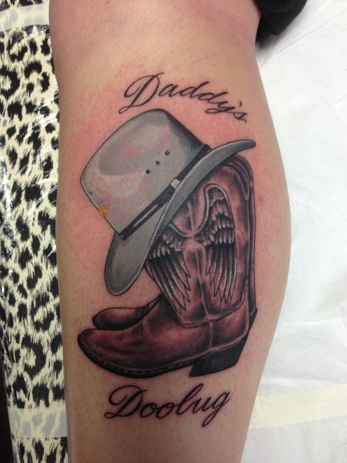 Cowboy Boots & Hat Tattoo