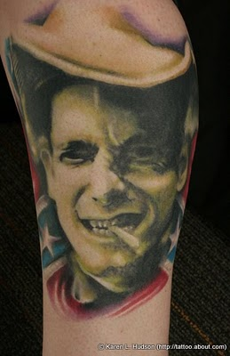 Cowboy Portrait Tattoo