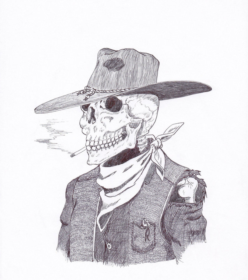 Cowboy sketch drawings - photo#9