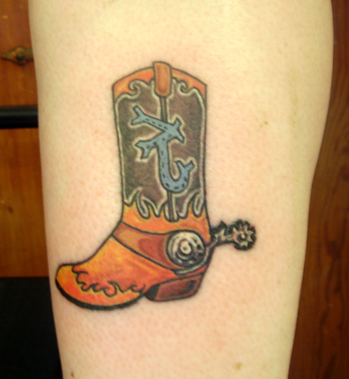 Cowgirl Boot Tattoo