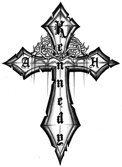 Cross Custom Tattoo Design
