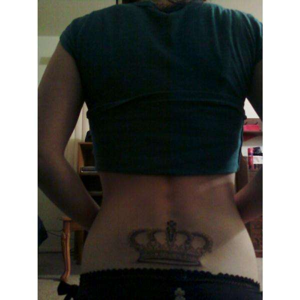 Crown Tattoo On Lower Back