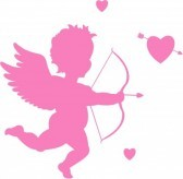 Cupid Silhouette Tattoo Design