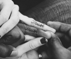 Cute Couple Matching Tattoo