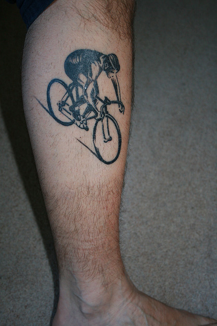 Cycling Tattoo On Le