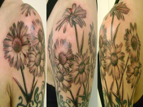 Daisy Tattoo On Sleeve