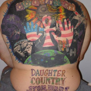Daughter Country Stars Wars Tattoo On Back