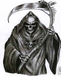 Death Grim Reaper Tattoo Design