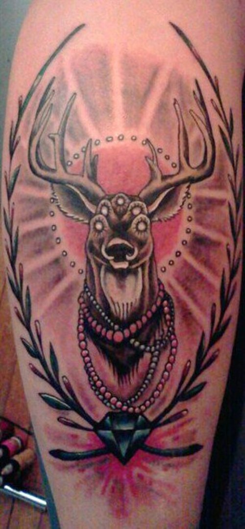Traditional Traditional Deer Tattoo Drawing