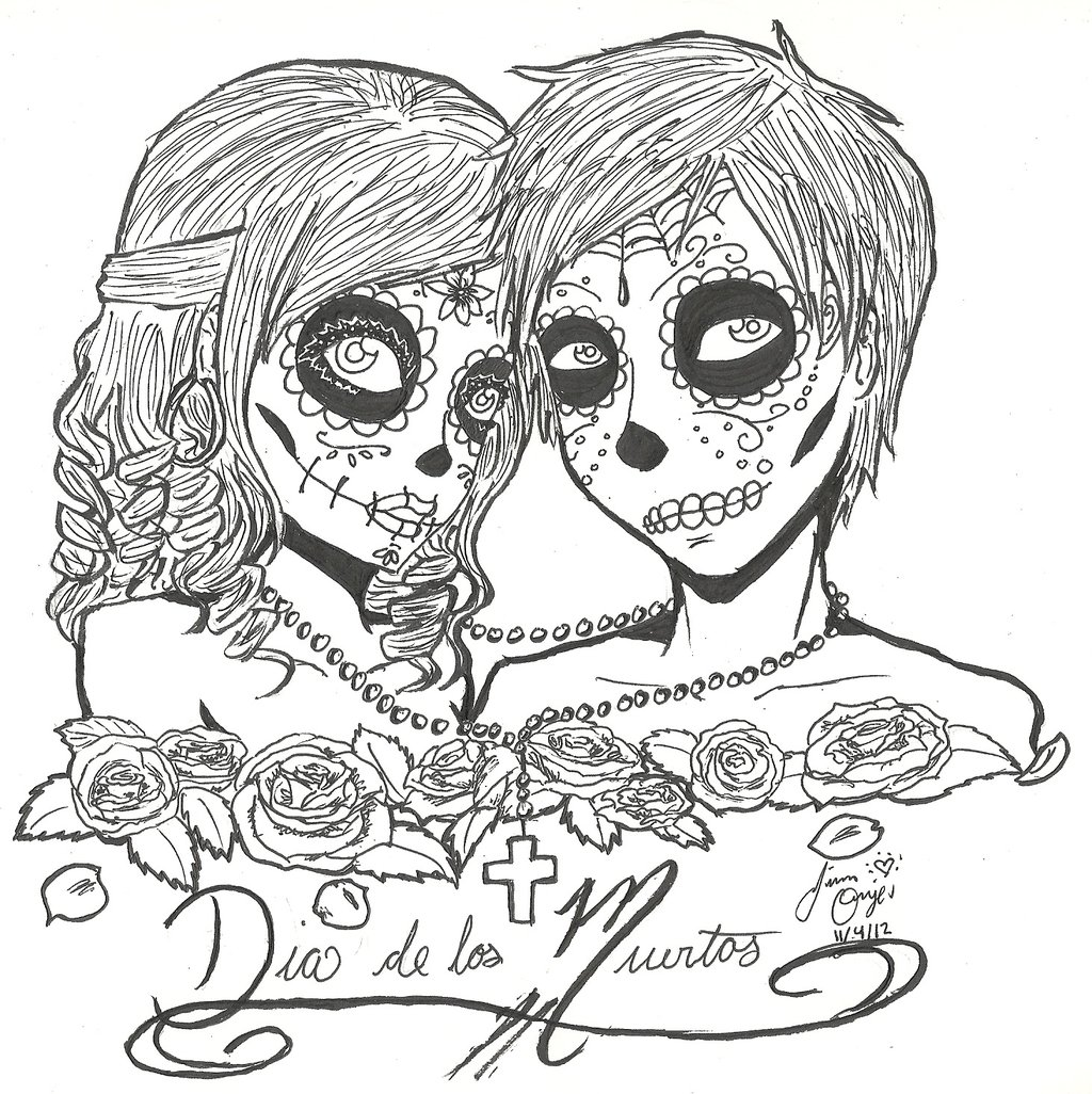 Adult Best Icp Coloring Pages Gallery Images cute dia de los muertos coloring page tattoobite com images