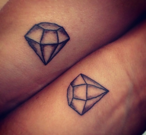 Diamond Couple Tattoo Design