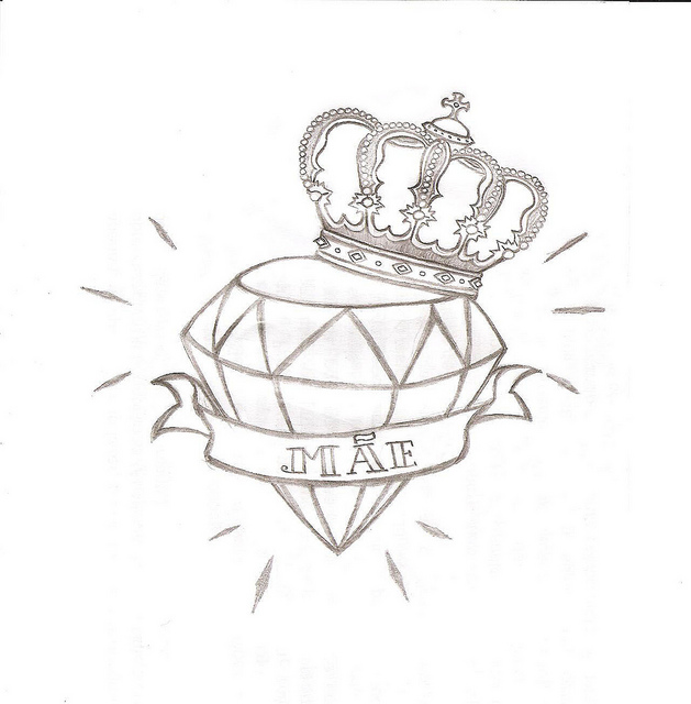 Diamond Drawing Tattoo Images amp Pictures Becuo