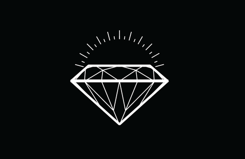 Diamond Tattoo Design On Black Background