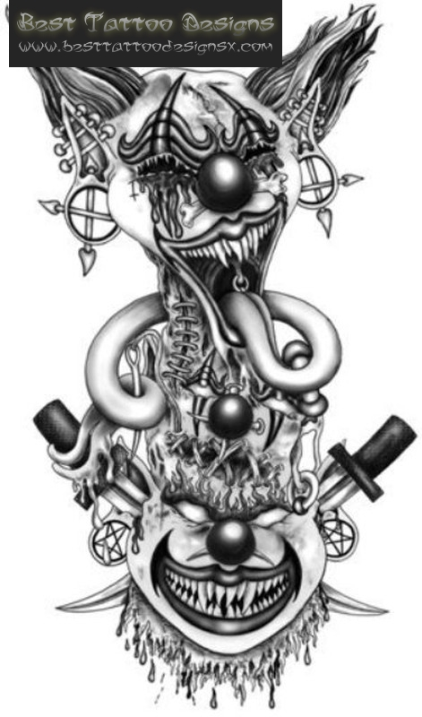 Pics Photos Evil Clowns Tattoo Design