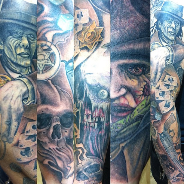 Evil & Scary Clown Tattoo Designs