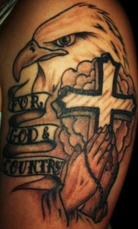 For God & Country Tattoo Design