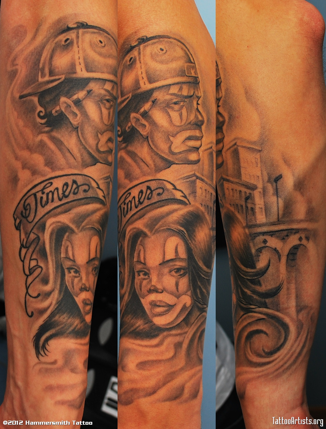 Gangster Clown Tatto
