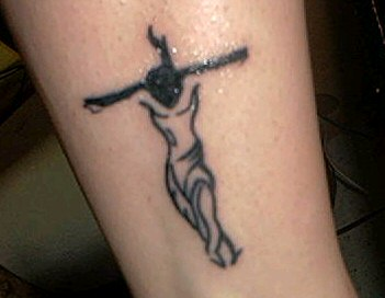 Jesus With Cross Tattoo