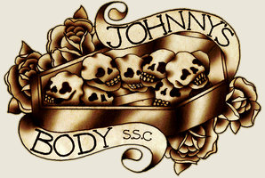 Johnny's Body Coffin Tattoo Design