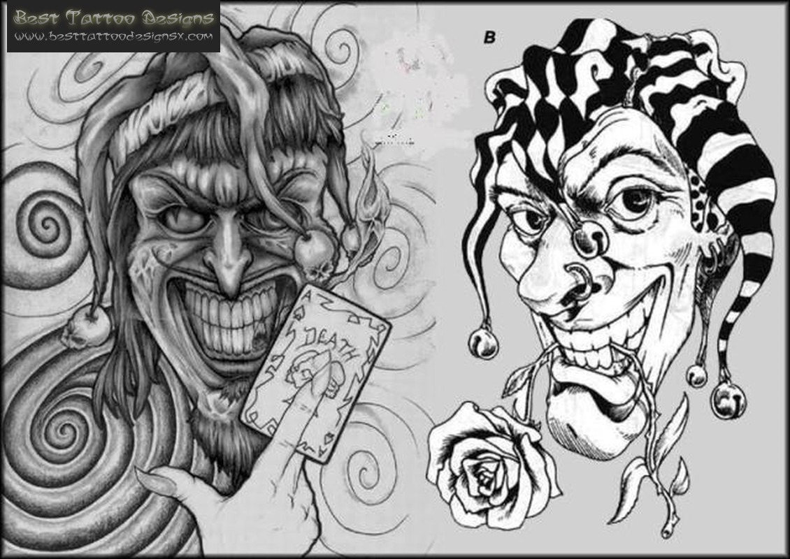 Happy and sad face masks happy and sad face tattoos - Loon Clown Tattoo Designs