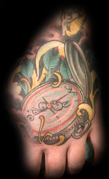 Lovely Compass Tattoo On Hand