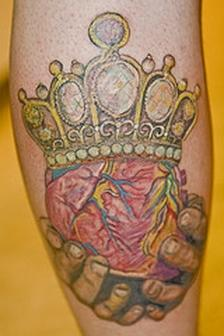 Lovely Crown Tattoo Design