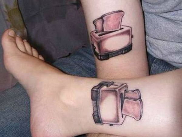 Mind Blowing Couple Tattoo Design