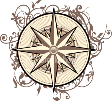 Ornate Compass Tattoo Design