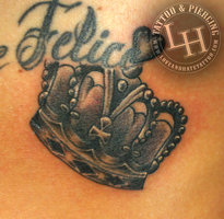 Ornate Crown Tattoo Design
